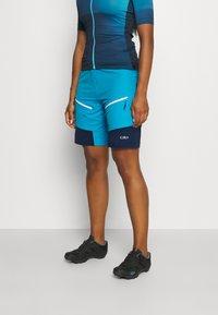 CMP - WOMAN FREE BIKE BERMUDA WITH INNER UNDERWEAR - Krótkie spodenki sportowe - ibiza - 0