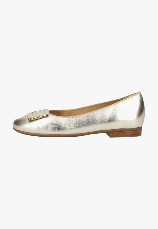 Ballet pumps - white gold