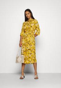 ONLY - ONLNOVA LUX DRESS - Day dress - golden yellow/white - 1