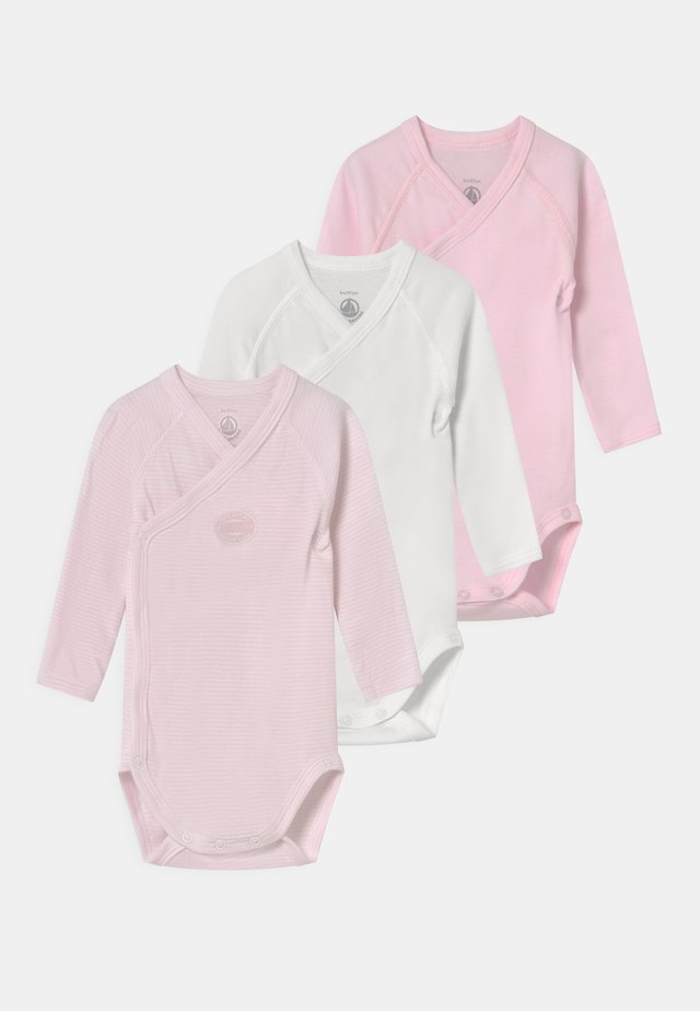 NAISS 3 PACK - Body - white/pink