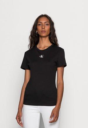 MICRO MONOGRAM  - Basic T-shirt -  black