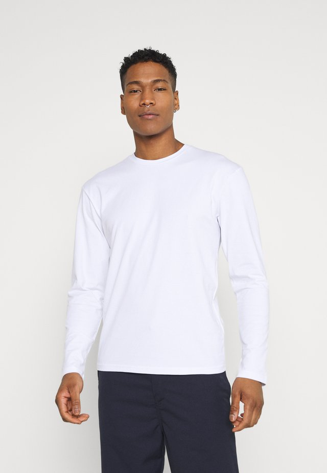 LONG SLEEVE CREW NECK - Long sleeved top - white