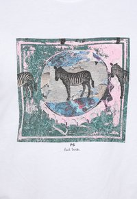 PS Paul Smith - SLIM FIT ZEBRA - Print T-shirt - white - 5