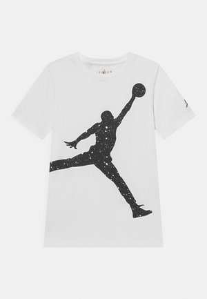 OVERSIZE SPECKLE JUMPMAN - T-shirts med print - white