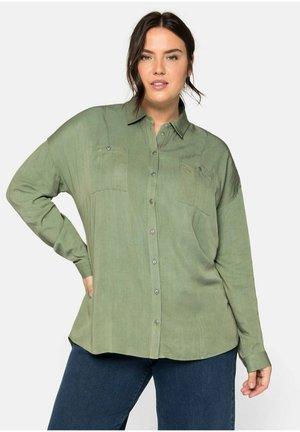 Button-down blouse - hellkhaki