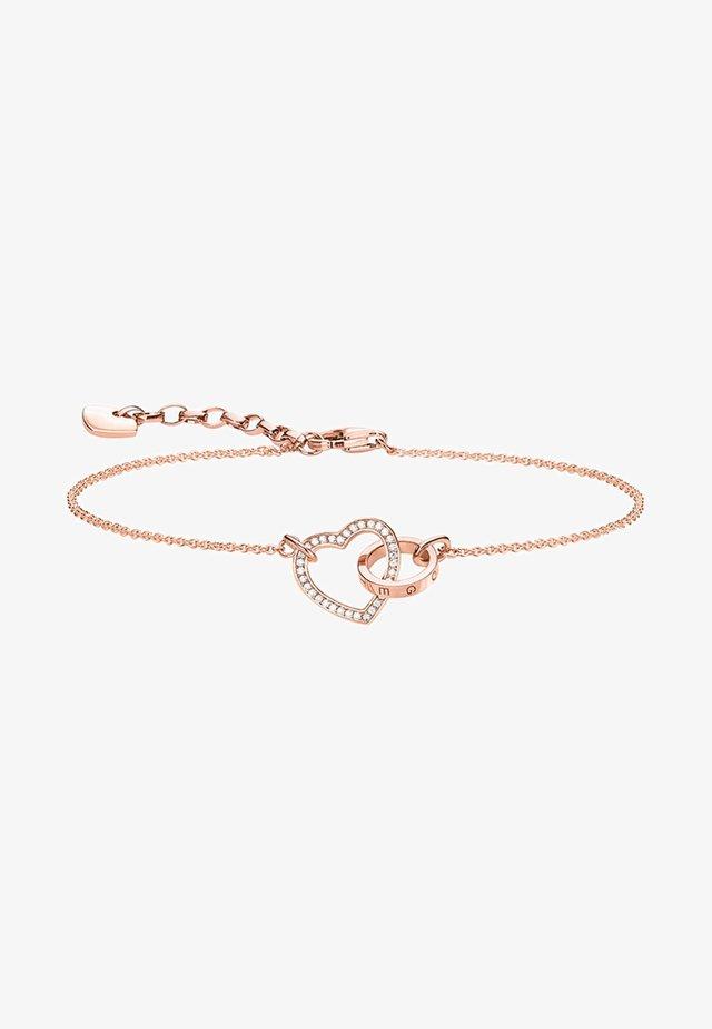 TOGETHER FOREVER  - Bracelet - rosegold coloured, white