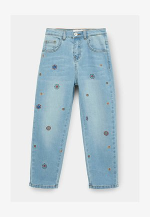EMBROIDERED - Jeans baggy - blue