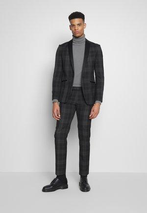 BLACK GREY CHECK DRESSWEAR SUIT - Suit - black & white