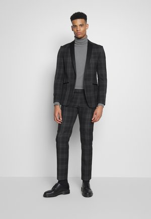 BLACK GREY CHECK DRESSWEAR SUIT - Oblek - black & white