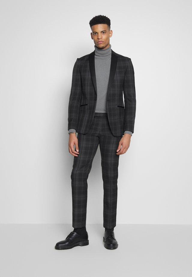 BLACK GREY CHECK DRESSWEAR SUIT - Garnitur - black & white