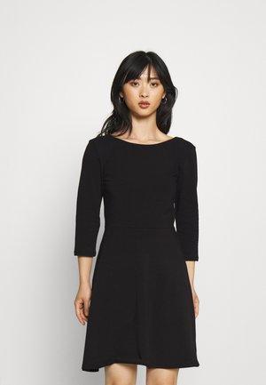 ONLLIVE LOVE SKATER DRESS  - Jersey dress - black