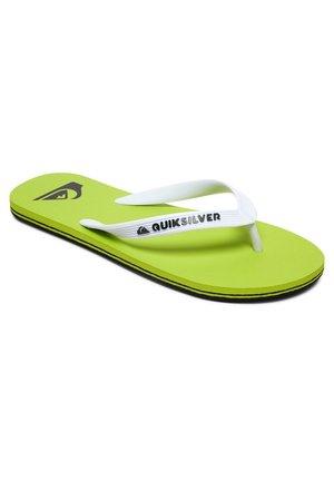 MOLOKAI - Pool shoes - black/green/green