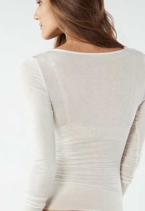 TOP AUS MODAL UND KASCHMIR - Long sleeved top - vaniglia