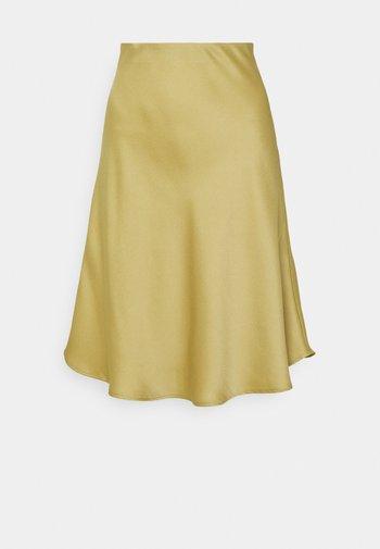 GRYNA - A-line skirt - khaki green