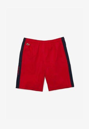 kurze Sporthose - rot / navy blau