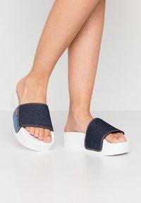Levi's® - JUNE BOLD - Sandalias planas - navy blue - 0