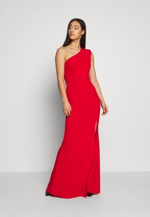ONE SHOULDER MAXI DRESS - Vestido de fiesta - red
