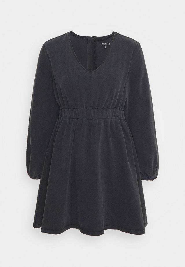 BALLOON SLEEVE SKATER DRESS - Vestito estivo - black