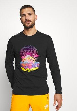 MENS GRAPHIC TEE - T-shirt à manches longues - black/lemon