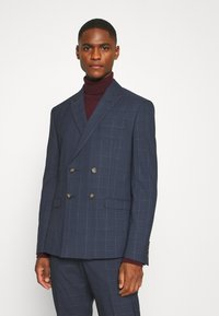 Isaac Dewhirst - DOUBLE BREASTED WINDOWPANE CHECK SUIT - Completo - dark blue - 2