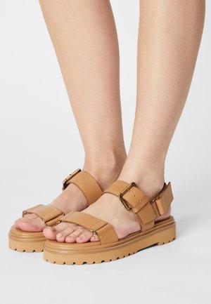 CHUNKY LUG  - Platform sandals - desert camel