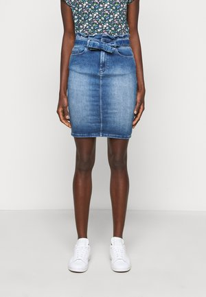 ONLHUSH MID SKIRT - Pencil skirt - medium blue denim