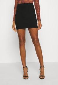 Monki - DARIA SKIRT - Mini skirt - black - 0