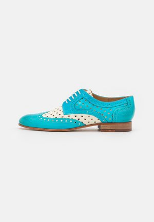 SALLY 66 - Lace-ups - abyss/white/turquoise/rich tan/natural