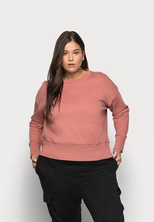 VMLENKA WIDE CROP - Sweatshirt - old rose
