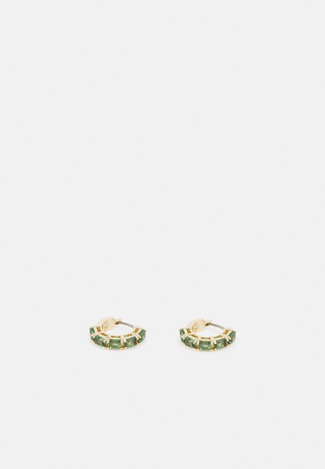 STONE HOOP - Ohrringe - gold-coloured/green