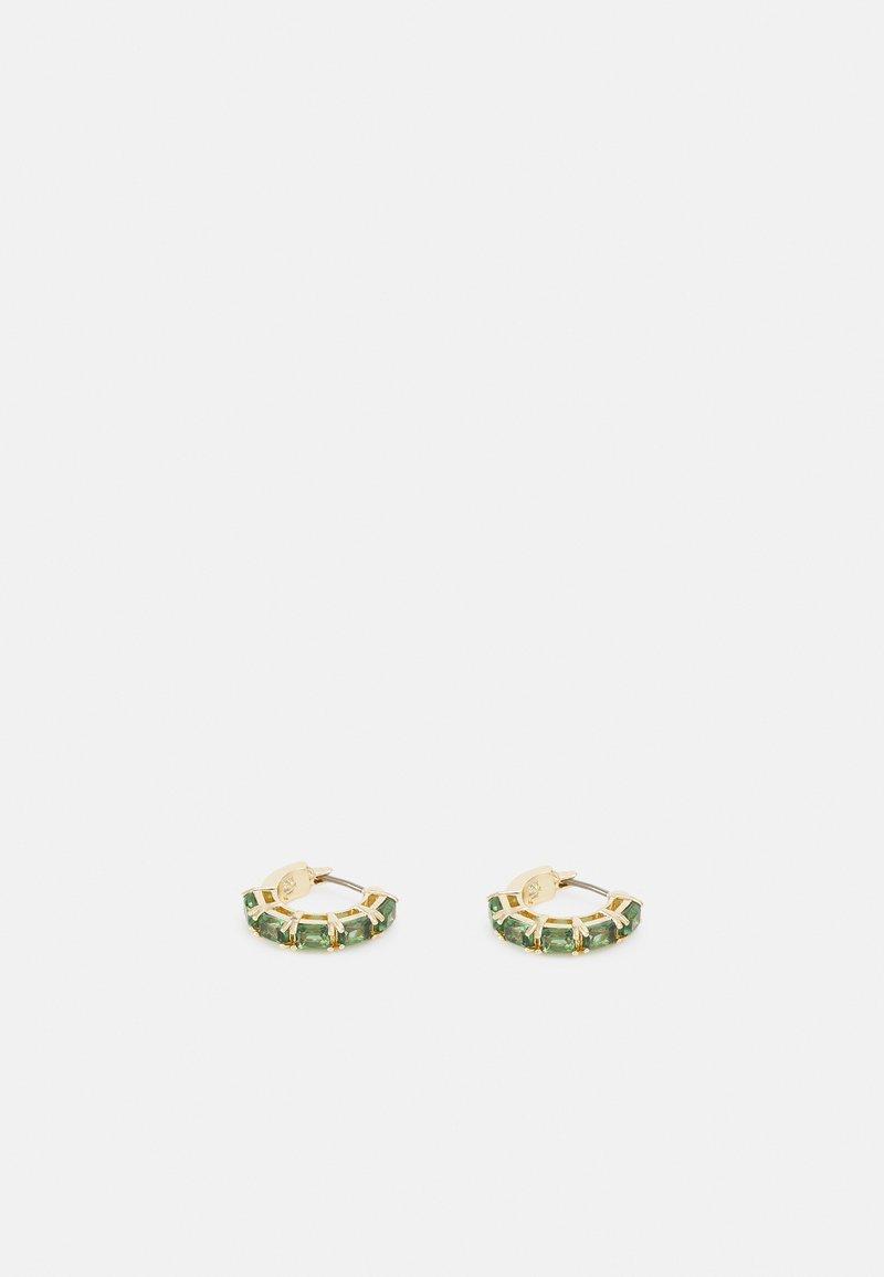Lauren Ralph Lauren - STONE HOOP - Earrings - gold-coloured/green