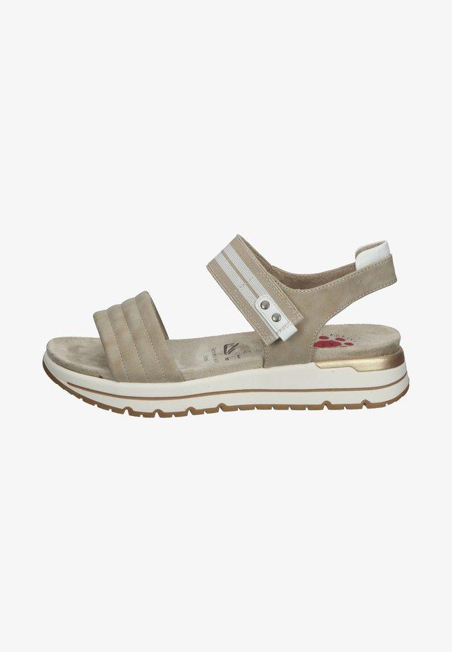 Sandały na platformie - beige stone
