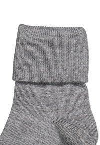 Polarn O. Pyret - WITH ANTI-SLIP - Socks - greymelange - 2