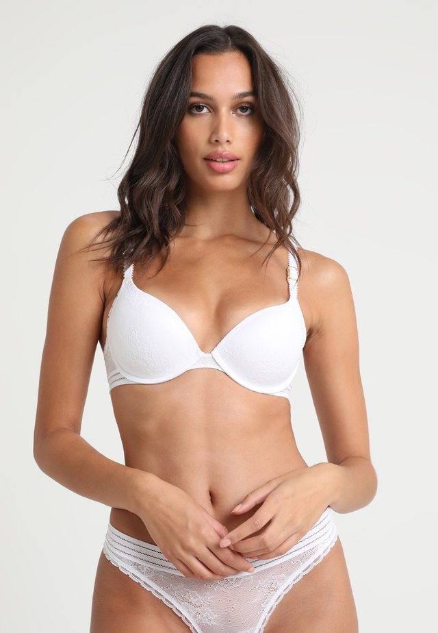 STELLA CONTOUR PLUNGE - Push-up bra - white