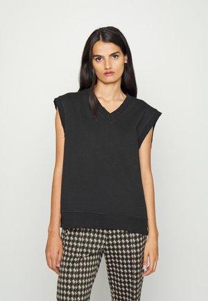 DISTRESSED VEST - Sweatshirt - distressed black