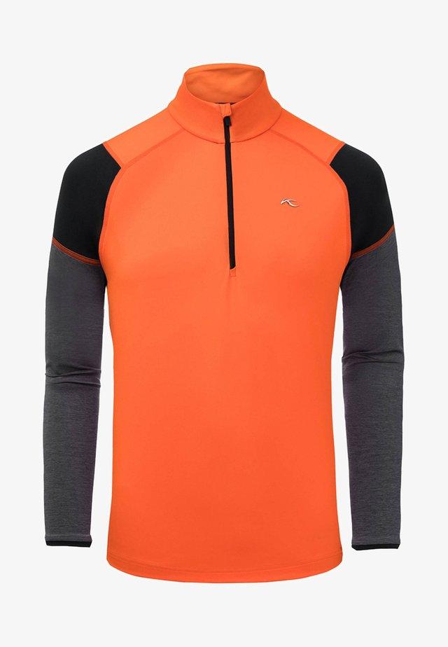 RACE HALF ZIP - Sweatshirt - orange