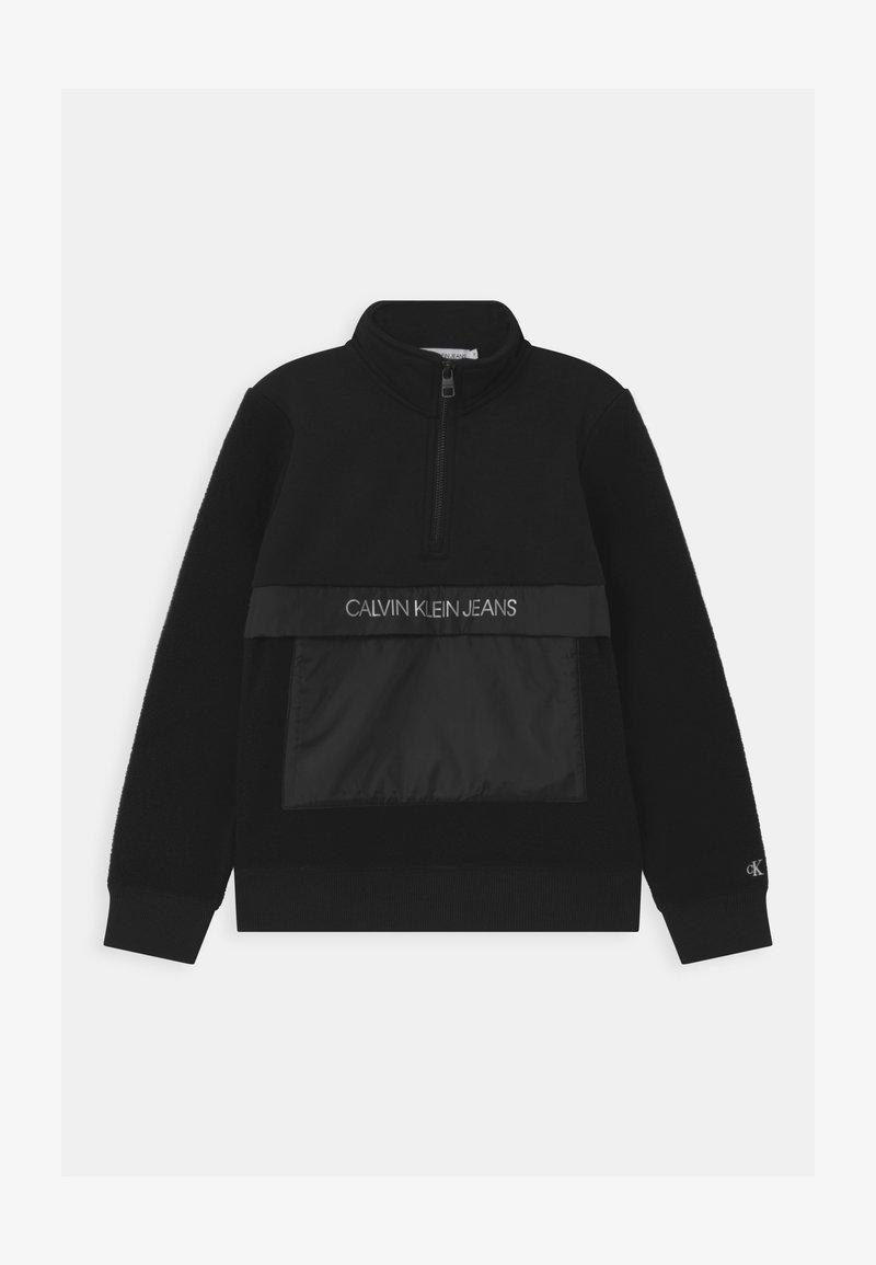 Calvin Klein Jeans - ZIP MOCK UNISEX - Fleecepaita - black