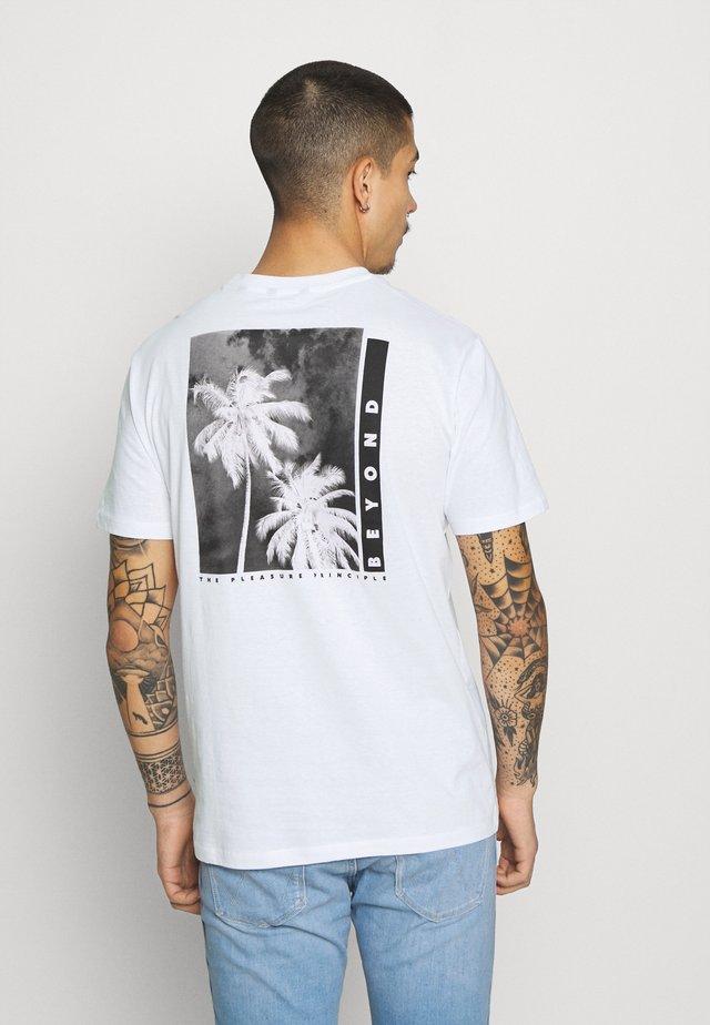 ONSPASTE LIFE TEE - T-shirt med print - white