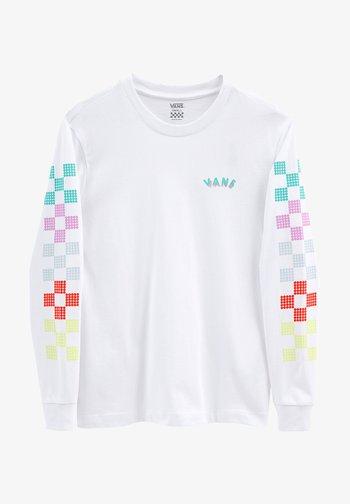 WM DOTTY CHECK LS BF - Long sleeved top - white