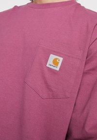 Carhartt WIP - POCKET  - Long sleeved top - dusty fuchsia - 5