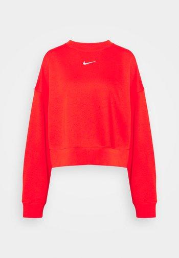 CREW - Sweatshirt - chile red/white