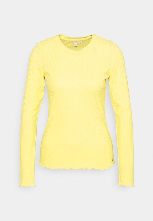 LONGSLEEVE - Pitkähihainen paita - soft yellow