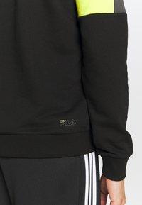 Fila - PARSOM BLOCKED HOODY - Sweatshirt - black/asphalt/sulphur spring - 5