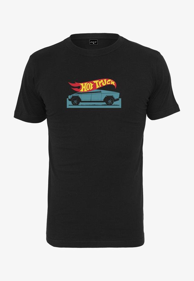 CYBER - T-shirt imprimé - black