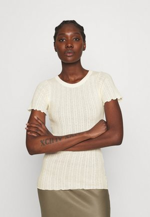 POINTELLA TRIXA - Basic T-shirt - pale banana