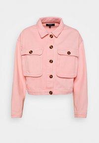 Missguided Petite - BELLOW POCKET BOXY SHACKET - Denim jacket - pink - 0