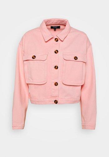 BELLOW POCKET BOXY SHACKET - Denim jacket - pink