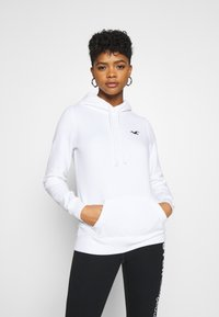 Hollister Co. - PRINT LOGO  - Hoodie - white - 0
