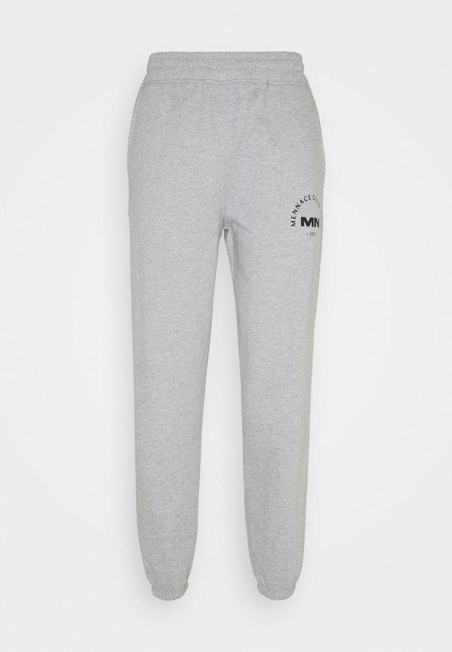 UNISEX MENNACE CLUB - Teplákové kalhoty - grey marl