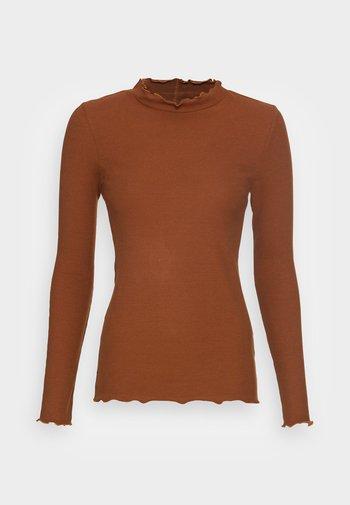 COSY TEE - Top sdlouhým rukávem - amber brown